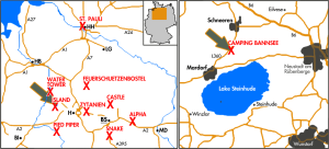 Karte der Checkpoints mit dem Ziel Bannsee